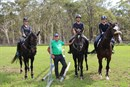 Rod Brown instructing riders. © Equestrian Australia