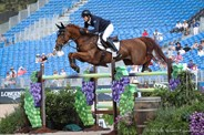 Rowan Willis and Blue Movie went clear and fast to finish 3rd today - © Michelle Terlato