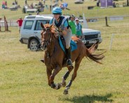 Samantha Seaton and Rowbury Spree complete their cross country round in the CIC2* - © William Carey