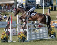 Sammi Birch and Hunter Valley II in the CIC3* showjumping - © William Carey