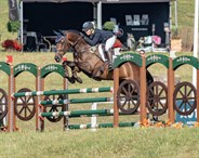 Sammi Birch and Hunter Valley II jump in the CIC3* class - © William Carey