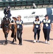Smiles all round for the Aussies after Emma Booth's test - © Michelle Terlato