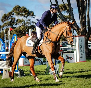 Stuart Tinney and Celebration cross the finish line - © EQ Life