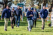 The Ground Jury walking the show jump course  for the CCI3* and CIC3* - © Geoff McLean/Gone Riding Media