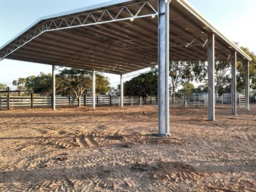 The covered arena provides great protection from the hot Queensland sun!