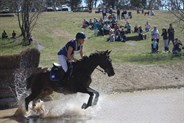 Thea Horsley, winner of the 2* class at Canberra International Horse Trials. © Fiona Gruen from Wallaroo Equestrian