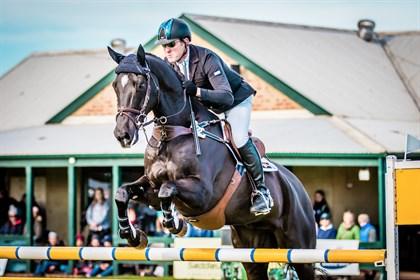 Tim Boland and Napoleon where overnight leaders after cross country, but had a rail to finish 2nd in CCI2* - © Geoff McLean/Gone Riding Media