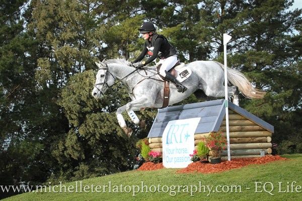 Vicky Browne-Cole from NZ on Eli in the CCI2* © Michelle Terlato