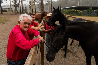 Willinga Park equine centre owner Terry Snow did not evacuate his premises on the NSW South Coast ahead of the bushfires in the region©James Brickwood