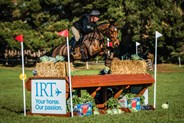 Yona Lloyd and the Carolyn McLean bred youngster Bellahowe Ayurvedic clearing the IRT fence in the CCI1* - © Geoff McLean/Gone Riding Media