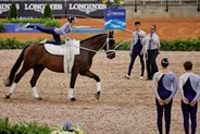 argentinian vaulting squad compulsory test at the 2018 FEI WEG © FEI/Liz Gregg